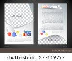 brochure design template.... | Shutterstock .eps vector #277119797