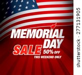 memorial day sale | Shutterstock .eps vector #277131905
