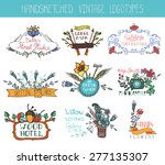 vintage  doodle hand drawing...   Shutterstock .eps vector #277135307
