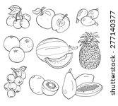 fruits | Shutterstock .eps vector #277140377