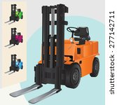 Forklift Truck Illustration...
