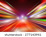 abstract image of speed motion... | Shutterstock .eps vector #277143941