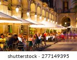 outdoor restaurants at placa... | Shutterstock . vector #277149395
