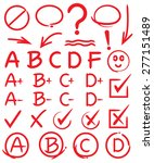grades with circles and... | Shutterstock .eps vector #277151489