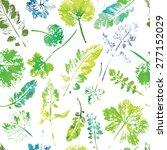 crazy beautiful watercolor... | Shutterstock .eps vector #277152029