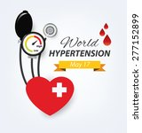 hypertension concept. vector... | Shutterstock .eps vector #277152899