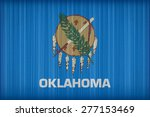 oklahoma flag pattern on the... | Shutterstock . vector #277153469