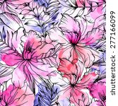 beautiful seamless floral... | Shutterstock .eps vector #277166099