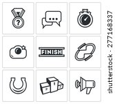 photo finish icons. vector...   Shutterstock .eps vector #277168337