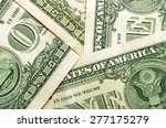 money   background of dollar... | Shutterstock . vector #277175279