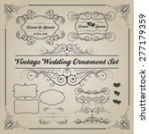 set of vintage wedding... | Shutterstock .eps vector #277179359