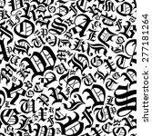 black alphabet letters seamless ... | Shutterstock .eps vector #277181264