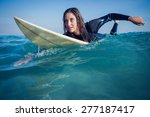 Woman In Wetsuit With A...
