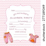 slumber party invitation... | Shutterstock .eps vector #277189349