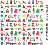 toys icons. colorful seamless... | Shutterstock .eps vector #277190165