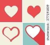 heart icons set  ideal for...   Shutterstock .eps vector #277191839