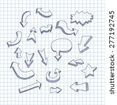 set of hand drawn arrows on a... | Shutterstock .eps vector #277192745