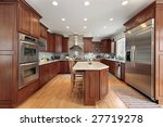 kitchen with wood cabinets | Shutterstock . vector #27719278