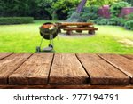 green garden of grill and dirty ... | Shutterstock . vector #277194791