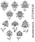 vintage floral paisley elements ...   Shutterstock .eps vector #277199135