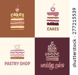 set of patterns vector logos... | Shutterstock .eps vector #277215539