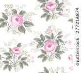 seamless floral pattern with... | Shutterstock .eps vector #277216874