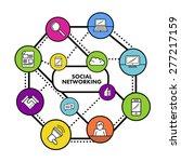 digitally generated social... | Shutterstock .eps vector #277217159