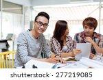 portrait of smiling vietnamese... | Shutterstock . vector #277219085
