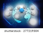 conceptual network of spheres | Shutterstock . vector #277219304