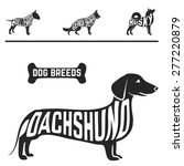 isolated dog breed silhouettes... | Shutterstock .eps vector #277220879