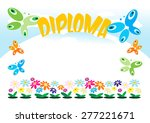 diploma or frame for kids ... | Shutterstock .eps vector #277221671