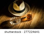 rum  cigar an a hat | Shutterstock . vector #277224641