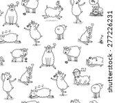 cute sheep pattern | Shutterstock .eps vector #277226231