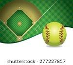 an illustration of a softball... | Shutterstock . vector #277227857
