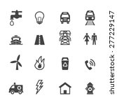 public utility icons  mono... | Shutterstock .eps vector #277229147