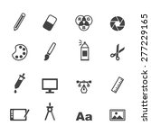 graphic design icons  mono... | Shutterstock .eps vector #277229165