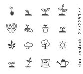 sprout icons  mono vector...   Shutterstock .eps vector #277229177