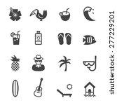 tropical icons  mono vector... | Shutterstock .eps vector #277229201