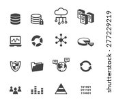 data icons  mono vector symbols | Shutterstock .eps vector #277229219