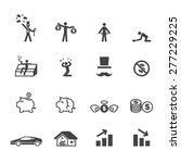 rich and poor icons  mono... | Shutterstock .eps vector #277229225