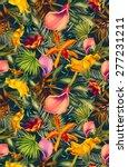 seamless tropical flower  plant ... | Shutterstock . vector #277231211