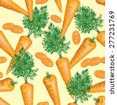 seamless pattern of ripe carrot ... | Shutterstock .eps vector #277231769