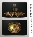 gold vip textured cards | Shutterstock .eps vector #277232921