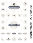 set luxury logos template... | Shutterstock .eps vector #277235051