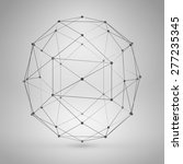 3d sphere with lines and dots....   Shutterstock .eps vector #277235345