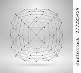 3d sphere with lines and dots.... | Shutterstock .eps vector #277235429