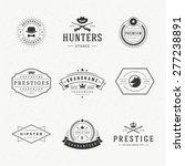 retro vintage logotypes or... | Shutterstock .eps vector #277238891