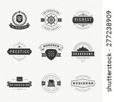 retro vintage logotypes or... | Shutterstock .eps vector #277238909