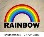 rainbow on a retro paper