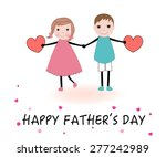 father's day greeting card with ...   Shutterstock .eps vector #277242989